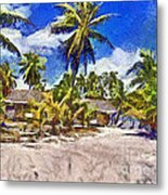The Beach 02 Metal Print by Vidka Art