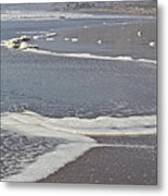 The Beach In January Metal Print