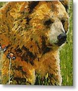 The Bear Painterly Metal Print