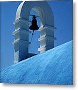 The Bell Tower In Mykonos Metal Print
