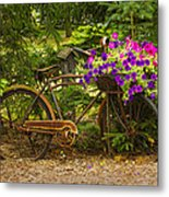 The Bike Stops Here - Niagara Metal Print