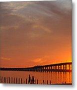 The Biloxi Bay Bridge At Sunset Metal Print