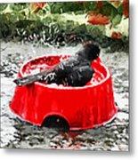 The Birdbath  Metal Print