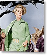 The Birds, Tippi Hedren Center, 1963 Metal Print by Everett