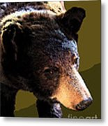 The Black Bear Metal Print