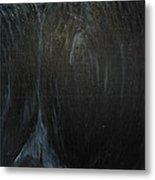The Black Narrow Path Metal Print
