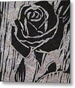 The Black Rose Metal Print