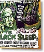 The Black Sleep, Close-up On Left Tor Metal Print