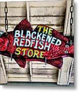 The Blackened Redfish Store Metal Print