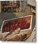 The Blessed Fish Market Metal Print