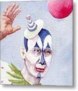 The Blue Clown Metal Print