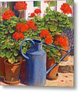 The Blue Watering Can Metal Print by Anthony Rule
