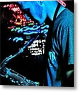 The Blues Player Metal Print
