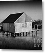The Boathouse With Texture Metal Print