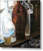 The Bottles  Metal Print