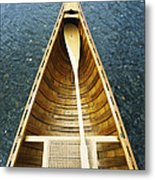 The Bow And Oar Of A Handmade Wooden Metal Print