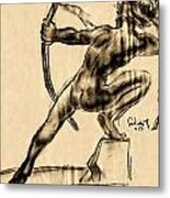 The Bow Man Metal Print