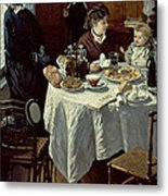 The Breakfast Metal Print by Claude Monet