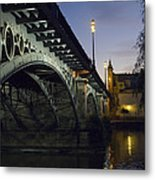 The Bridge Of Triana, Puente De Triana Metal Print