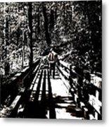 The Bridge Shadow Metal Print