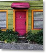 The Brightly Colored Door Illustrated Metal Print
