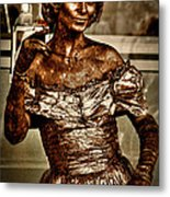 The Bronze Lady In Pike Place Market Metal Print