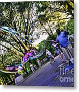 The Bubble Man Of Central Park Metal Print