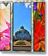 The Buffalo And Erie County Botanical Gardens Triptych Series Metal Print