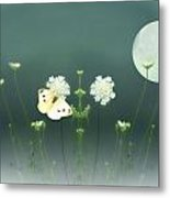 The Butterfly In The Moonlight Metal Print