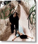 The Cabinet Of Dr. Caligari, From Left Metal Print by Everett
