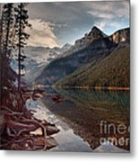 The Calm At Lake Louise Metal Print