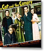 The Cat And The Canary, Front To Back Metal Print by Everett