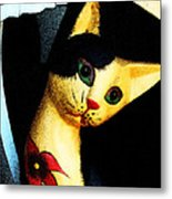 The Cat In Daedalus' Workshop Metal Print