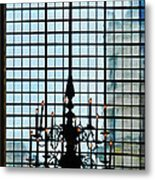 The Cathedral Chandelier  Metal Print