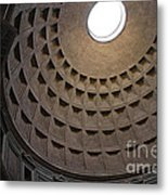 The Ceiling Of The Pantheon Metal Print by Chris Hill