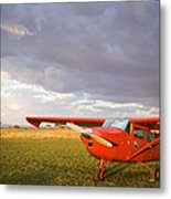 The Cessna Makes A Pit Stop To Refuel Metal Print
