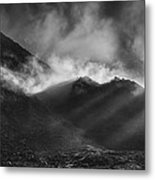 The Chancel In Black And White Metal Print by Andy Astbury