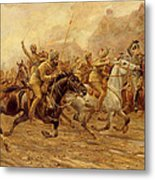 The Charge Of The Bengal Lancers At Neuve Chapelle Metal Print