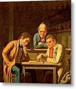 The Checker Players Metal Print by George Caleb Bingham