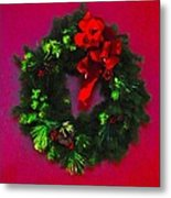 The Christmas Wreath Metal Print
