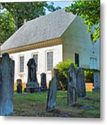The Church Cemetery Metal Print