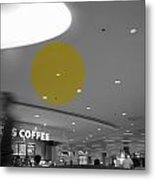 The Circle Yellow - Traveling In Need Of A Cup Metal Print