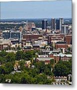 The City Of Birmingham Alabama Usa Vertical Metal Print