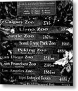 The Closest Zoo  Metal Print