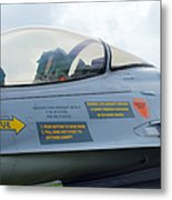 The Cockpit Of An F-16 Fighting Falcon Metal Print