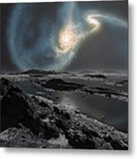 The Collision Of The Milky Way Metal Print by Ron Miller