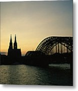 The Cologne Cathedral And Hohenzollern Metal Print