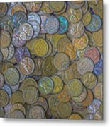 The Color Of Copper Money Metal Print