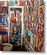 The Coolest Men's Room West Of The Pecos Metal Print
