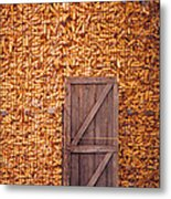The Corn Crib Metal Print